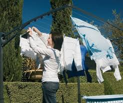 Hanging the Laundry to Dry
